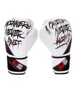 Gants de boxe Rumble V5 CUIR Ltd STATEMENT blanc/noir RD boxing