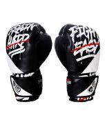 Gants de boxe Rumble V5 CUIR Ltd STATEMENT noir/blanc RD boxing