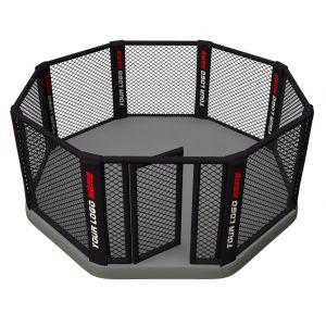 Cage de MMA sur plancher
