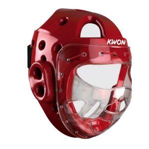 casque avec visiere ksl rouge