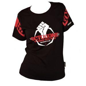 EVENT WEAR : T-shirt coton lifestyle Féminin Noir OCTOGONE II  Ltd