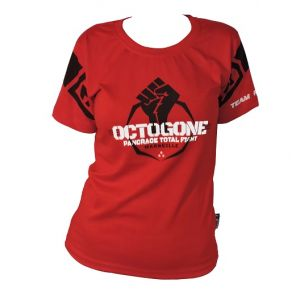 EVENT WEAR : T-shirt coton lyfestyle Féminin Rouge OCTOGONE 2  Ltd-Rouge-S