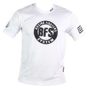 FIGHTER WEAR : T-shirt respirant BFS Ltd-Blanc-L