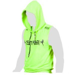 FIGHTER WEAR : t-shirt sans Manche à capuche sérigraphie Wilson VARELA LTD-Vert-L