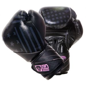 gants de boxe rumble v5 CUIR Ltd PMG noir/pink RD boxing