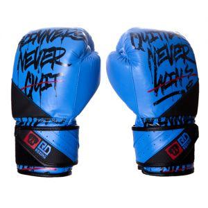 Gants de boxe Rumble V5 CUIR Ltd STATEMENT bleu/noir RD boxing