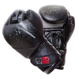 gants de boxe rumble v5 CUIR Ltd STENCIL noir/gris RD boxing
