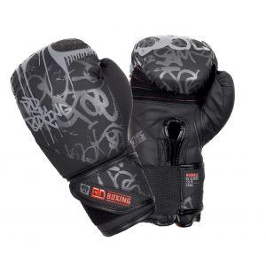 Gants de boxe Rumble V5 TAG noir/gris RD boxing