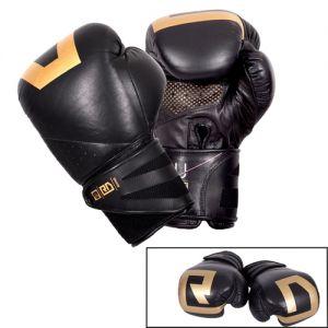gants de boxe ultimate V5 CUIR Ltd noir/gold RD boxing