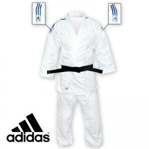 kimono judo grain de riz j350 bandes bleu ciel