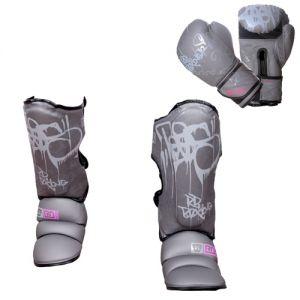 PACK K1/ MUAY THAÏ V5 TAG V5 gris/pink