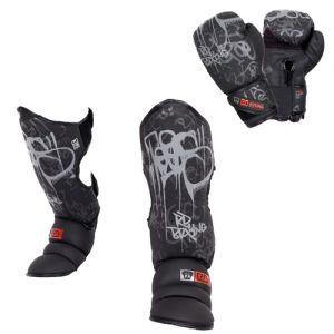 PACK K1/ MUAY THAÏ V5 TAG V5 noir/gris