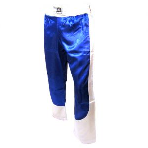 pantalon full contact a bandes stretch bleu blanc - L