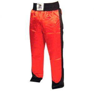 pantalon full contact a bandes stretch rouge noir - L
