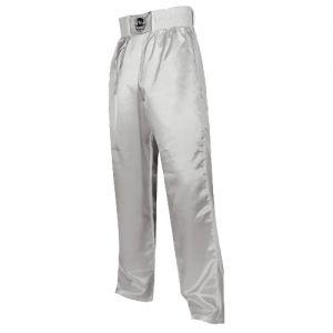 pantalon full contact uni a bandes stretch blanc - S