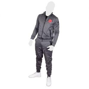PERSO CLUB : survêtement polyester slim fit-Gris-M