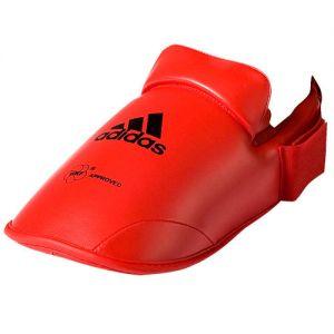 protege pied karate officiel wkf rouge