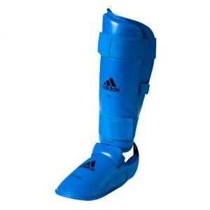 protege tibia + pied amovible officiel wkf bleu