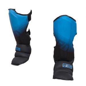 Protege Tibia/pieds K1 / Muay Thaï HD V5 FADE BLEU/NOIR