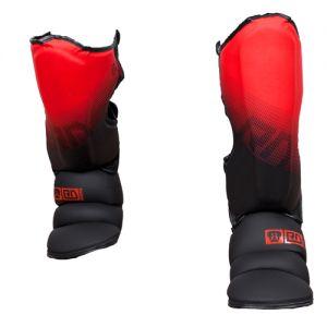 Protege Tibia/pieds K1 / Muay Thaï HD V5 FADE ROUGE/NOIR