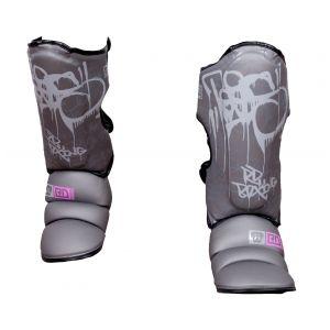 Protege Tibia/pieds K1 / Muay Thaï HD V5 TAG GRIS/PINK