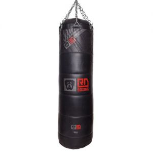 Sac de frappe cuir matelassé lourd v5 rd boxing