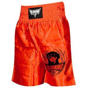 short kick boxing rouge logo noir