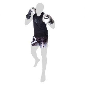 Short thai noir/blanc stencil V5 RD Boxing-XL