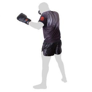 T-shirt technique respirant unisex noir/gris Stencil V5 RD Boxing