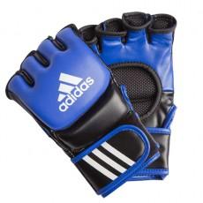 Gants MMA Adidas cuir bleu noir
